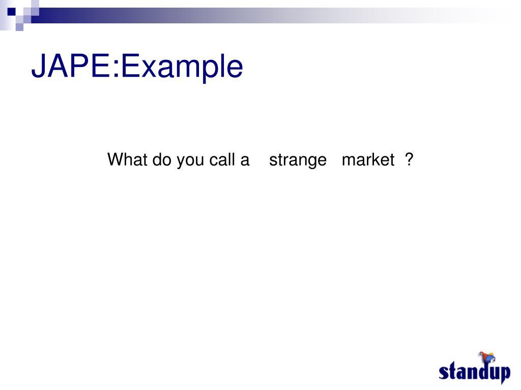 JAPE:Example