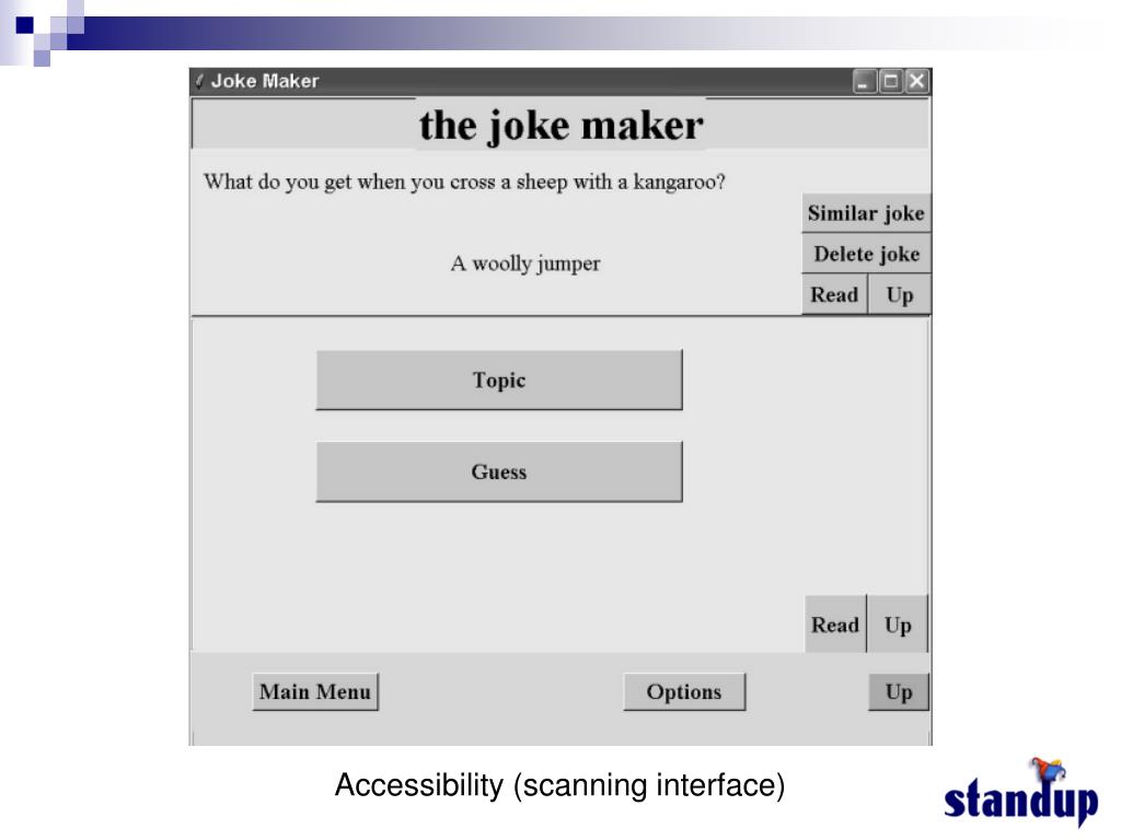 Accessibility (scanning interface)