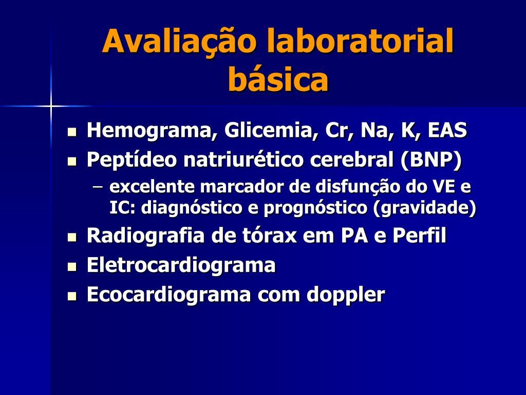 Avaliação laboratorial básica