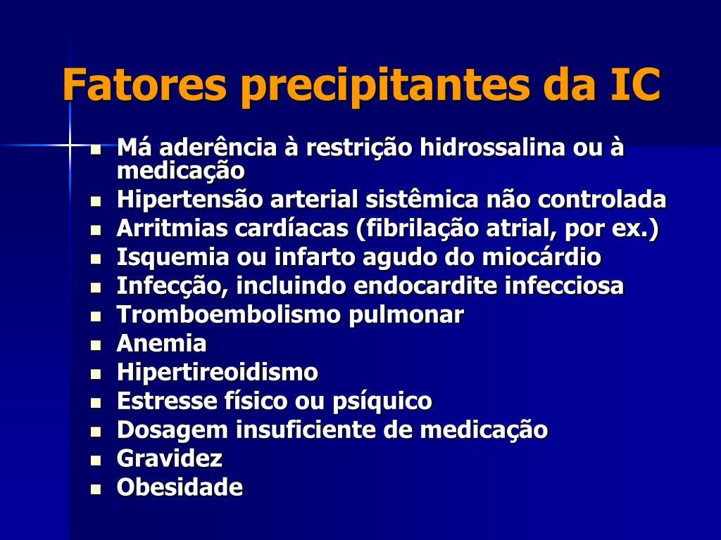 Fatores precipitantes da IC