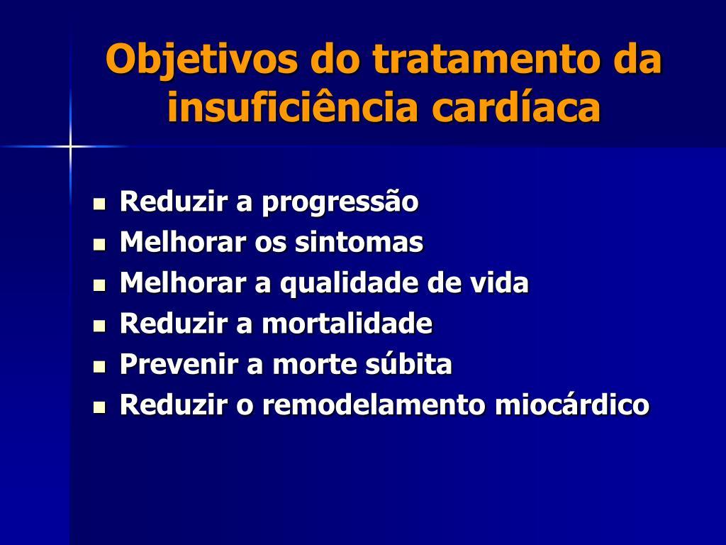 Objetivos do tratamento da insuficiência cardíaca