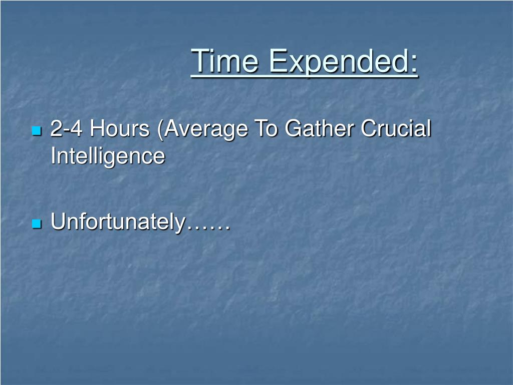 Time Expended: