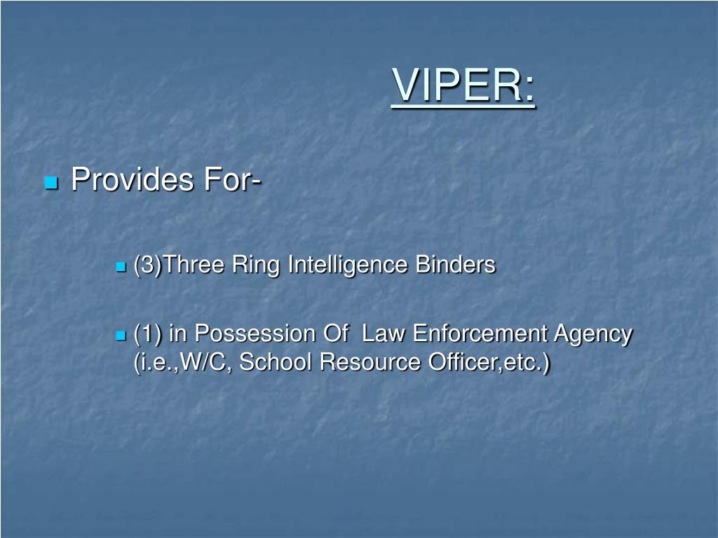 VIPER:
