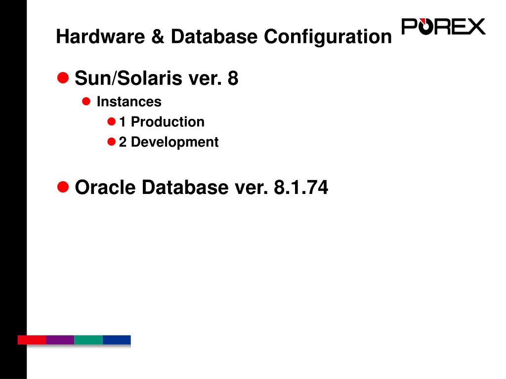 Hardware & Database Configuration