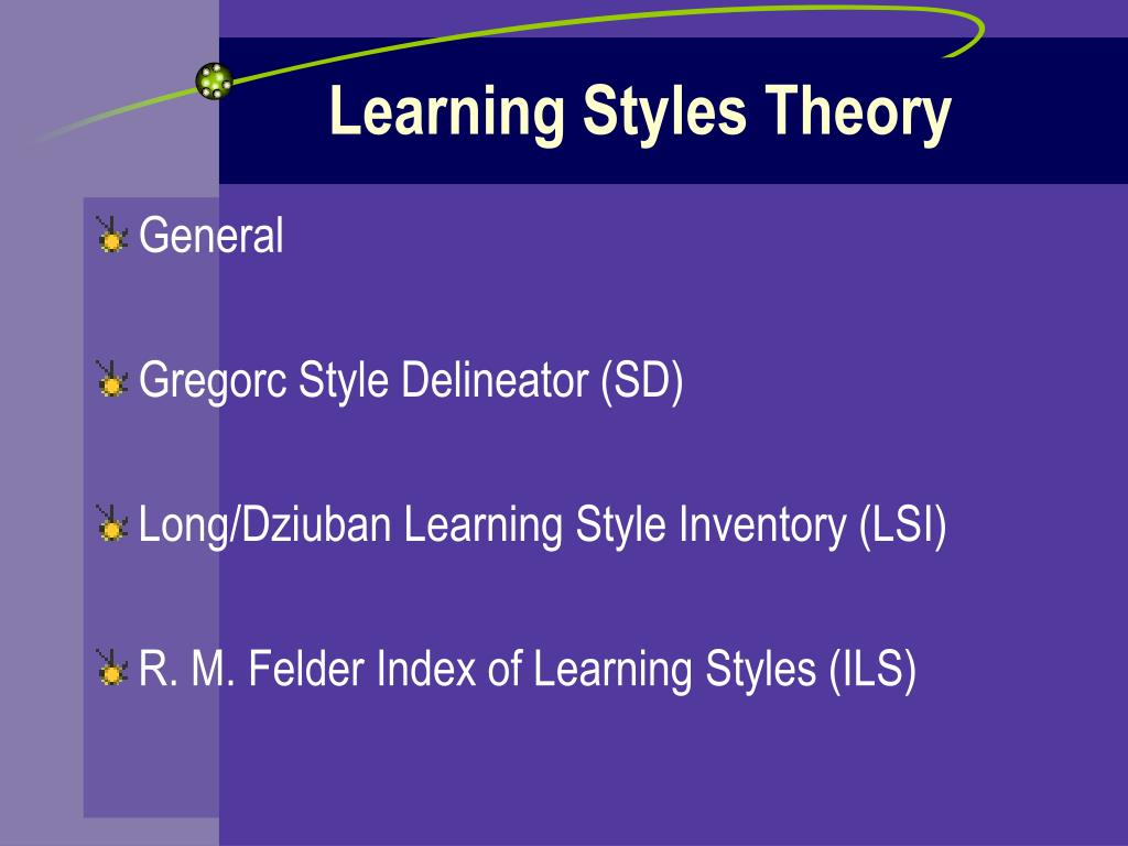 learning styles theory Full-text paper (pdf): learning styles theory fails to explain learning and  achievement: recommendations for alternative approaches.