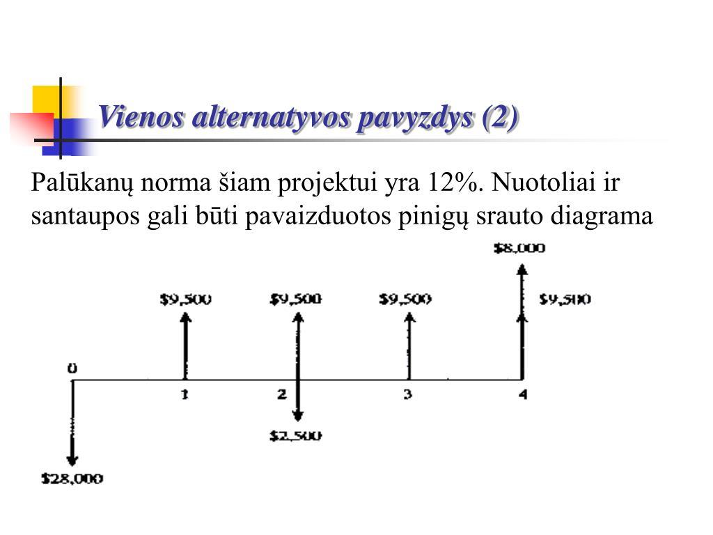 Vienos alternatyvos pavyzdys (2)