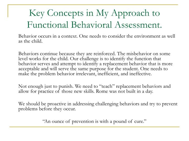 functional behavioral assessment Thoughtco, may 7, 2018, thoughtcocom/abc-antecedent-behavior-and-consequence-3111263 webster, jerry (2018  identifying behavior for a functional behavior.