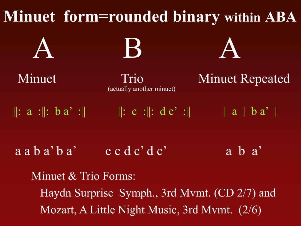 Minuet  form=rounded binary