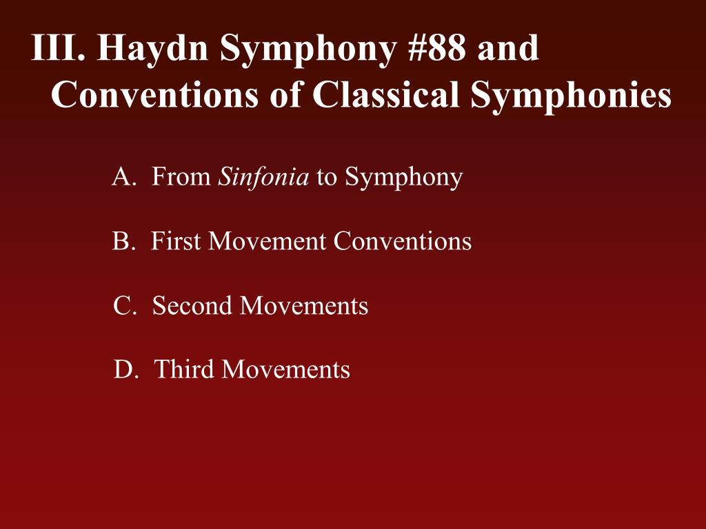 Haydn Symphony #88 and