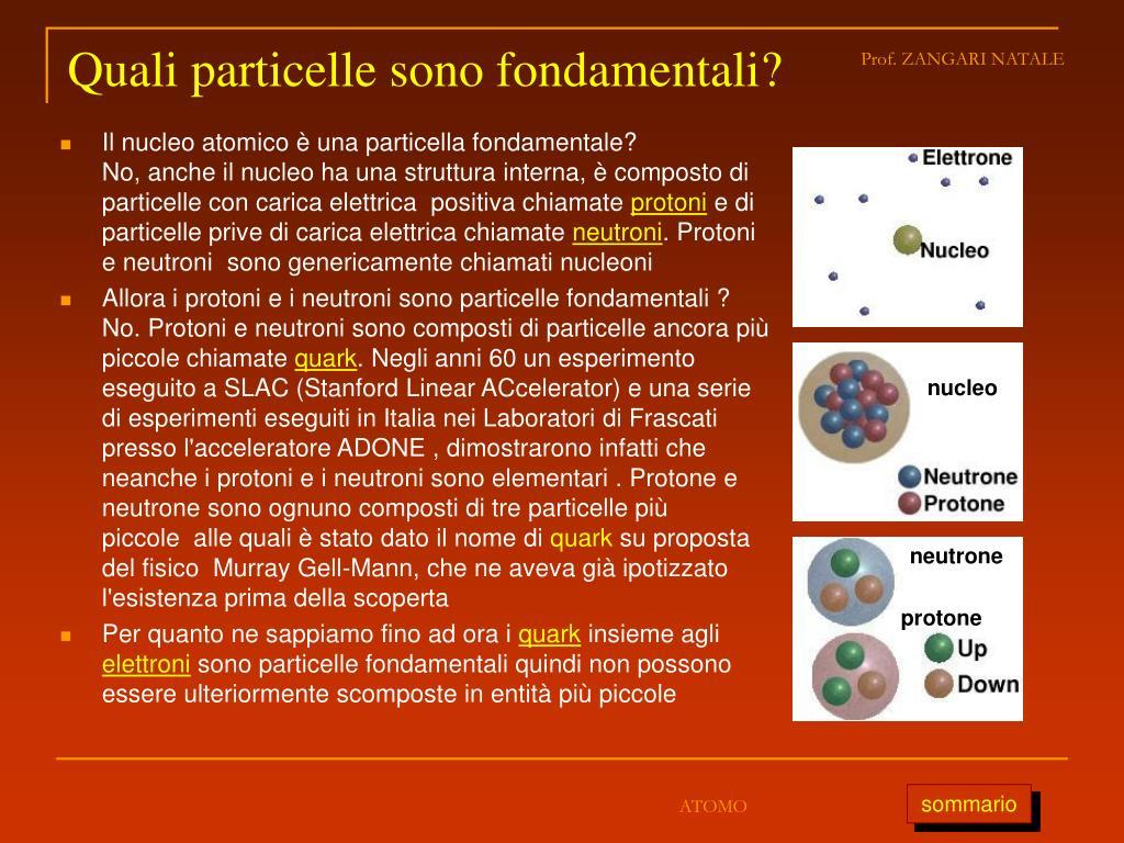 Quali particelle sono fondamentali?