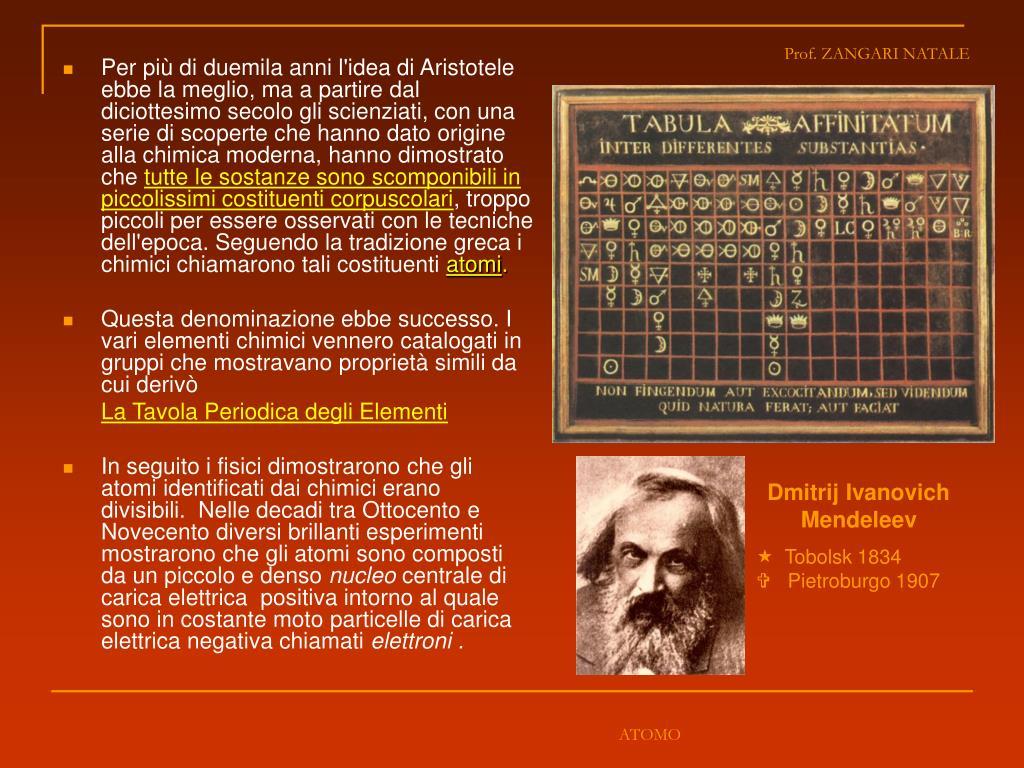 Per più di duemila anni l'idea di Aristotele ebbe la meglio, ma a partire dal diciottesimo secolo gli scienziati, con una serie di scoperte che hanno dato origine alla chimica moderna, hanno dimostrato che