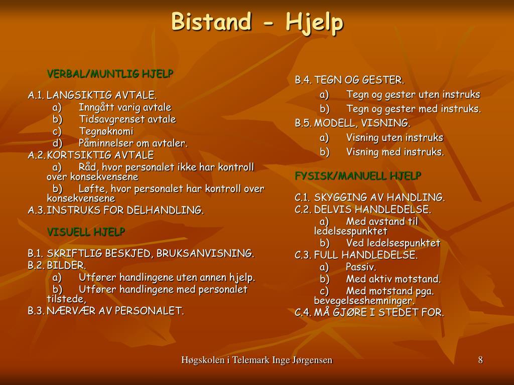 Bistand - Hjelp