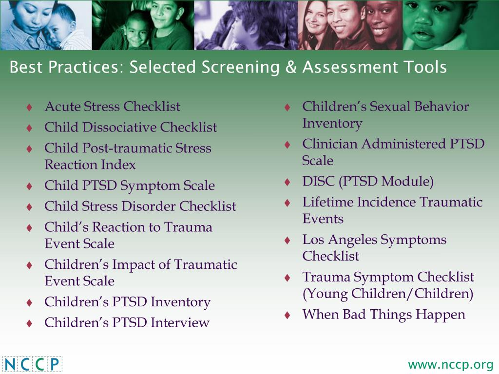 Best Practices: Selected Screening & Assessment Tools