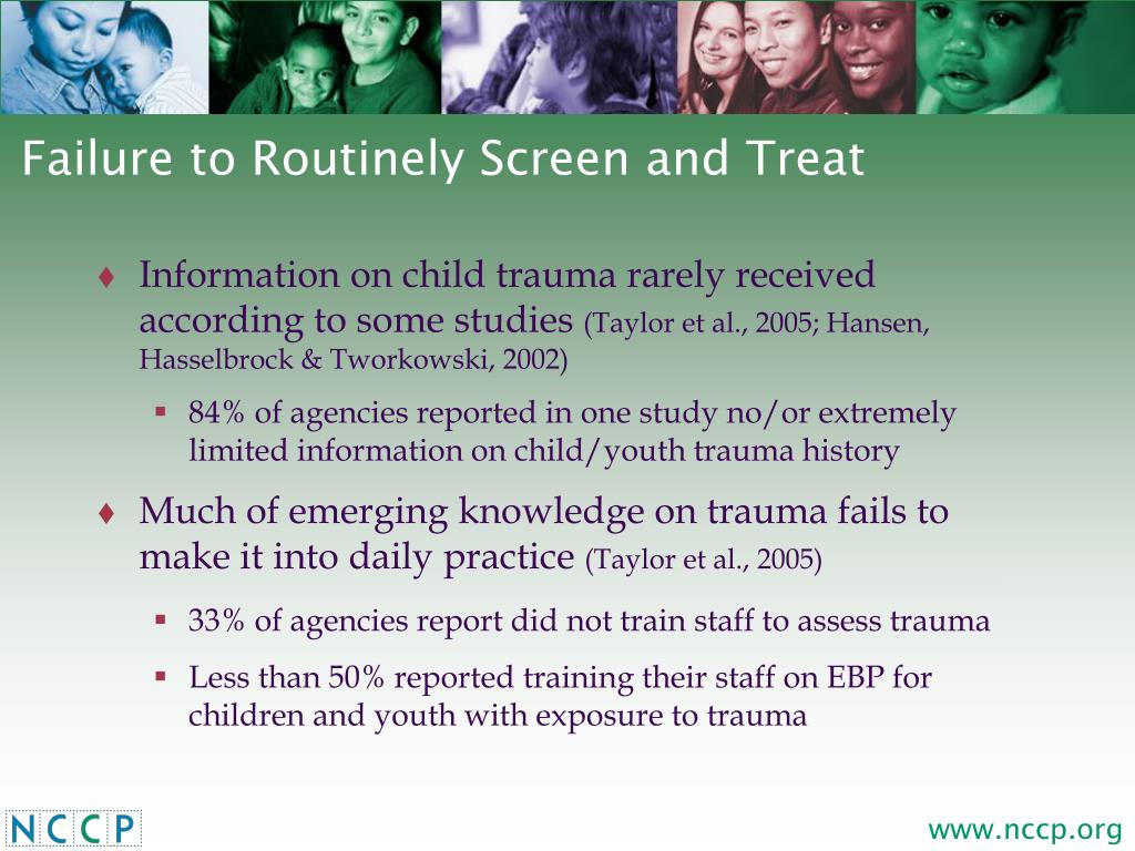 Failure to Routinely Screen and Treat