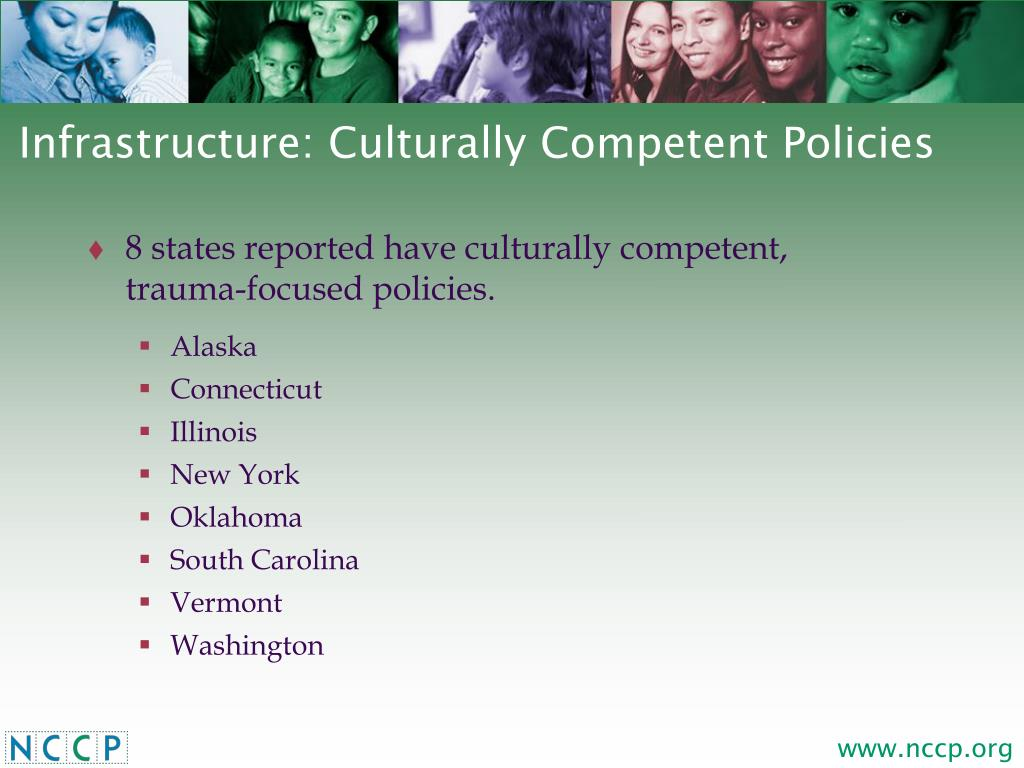 Infrastructure: Culturally Competent Policies