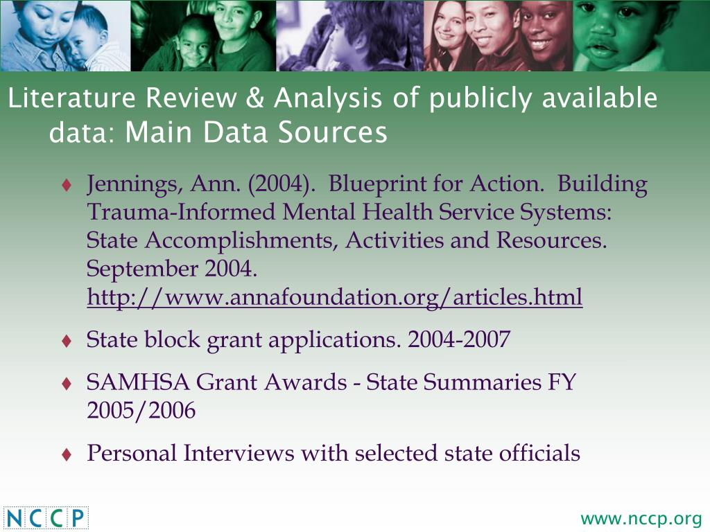 Literature Review & Analysis of publicly available data: