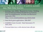 literature review analysis of publicly available data main data sources