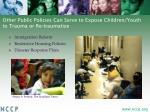other public policies can serve to expose children youth to trauma or re traumatize