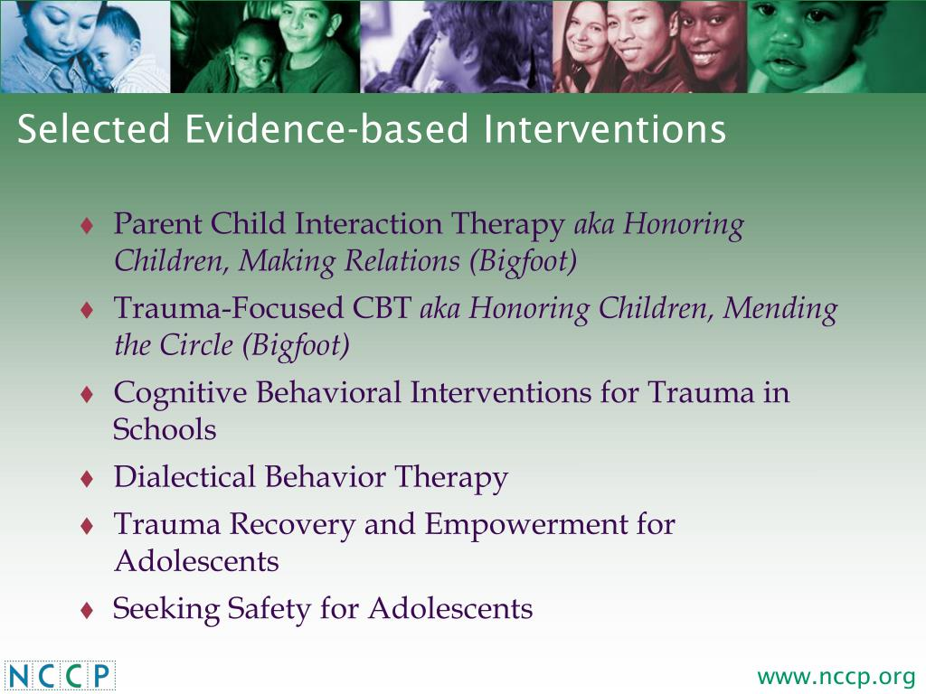 Selected Evidence-based Interventions