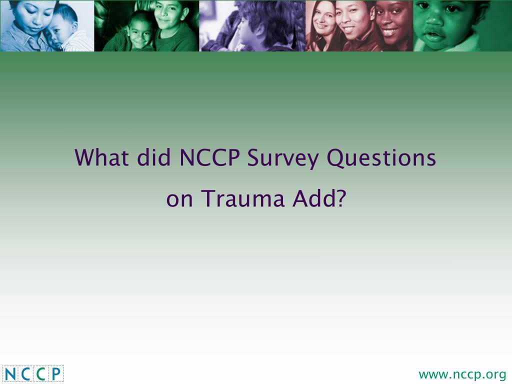 What did NCCP Survey Questions