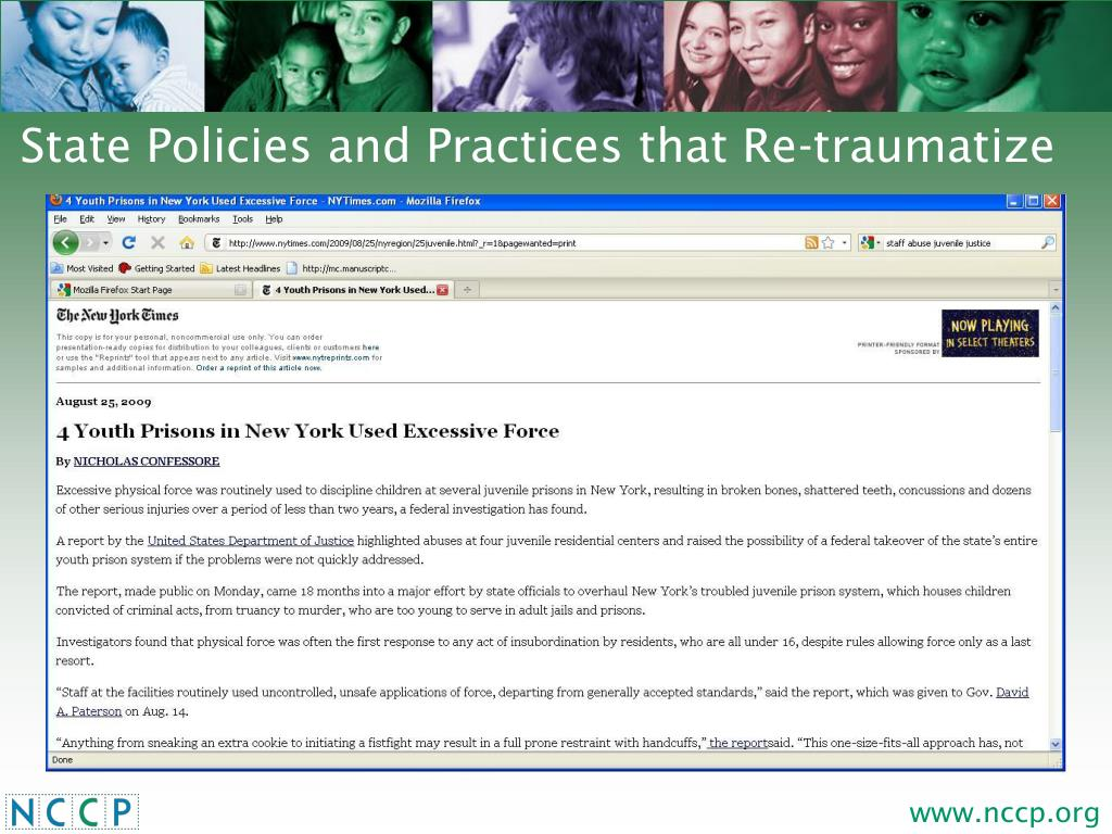 State Policies and Practices that Re-traumatize