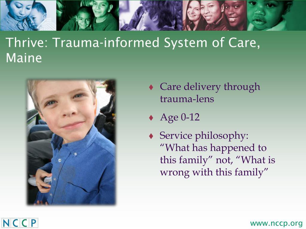 Care delivery through trauma-lens