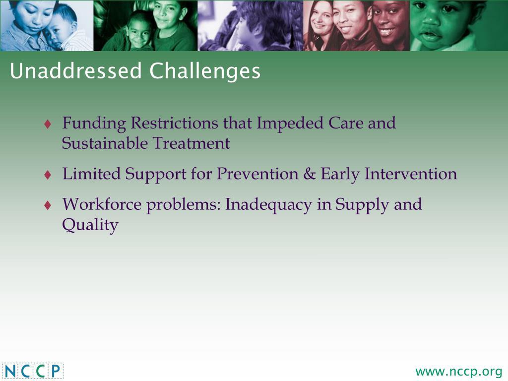 Unaddressed Challenges