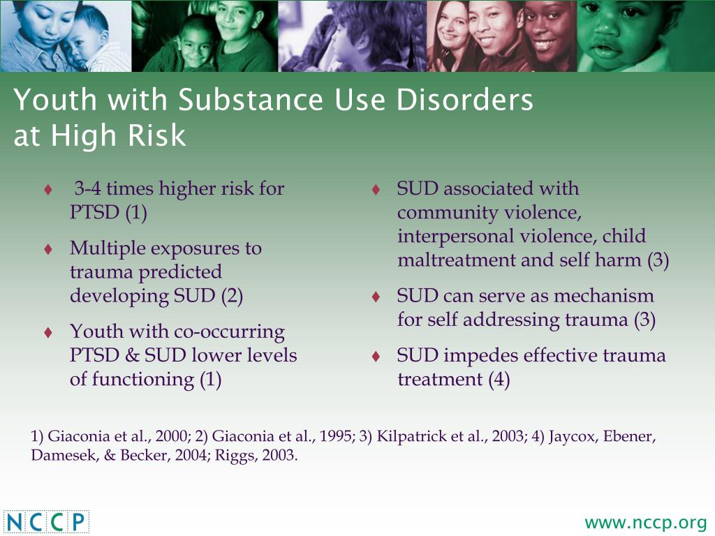 3-4 times higher risk for PTSD (1)