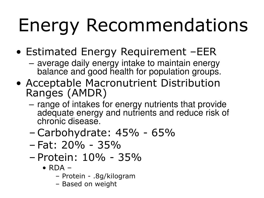 Energy Recommendations