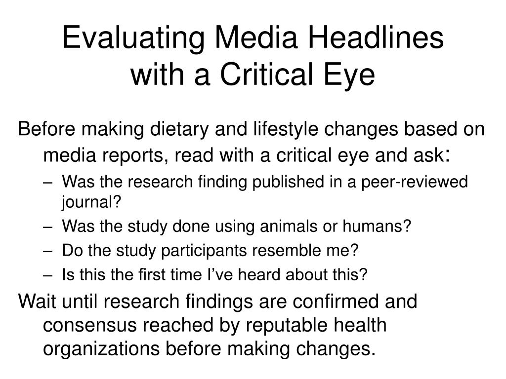 Evaluating Media Headlines with a Critical Eye