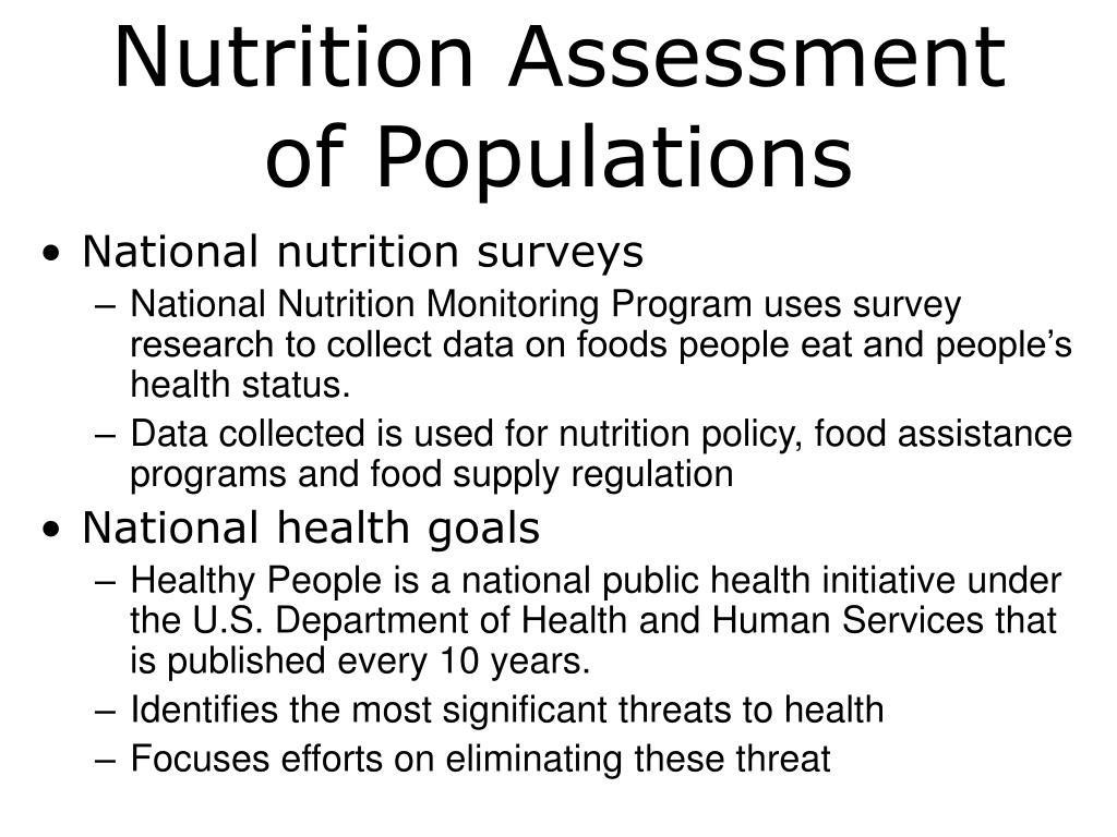Nutrition Assessment of Populations