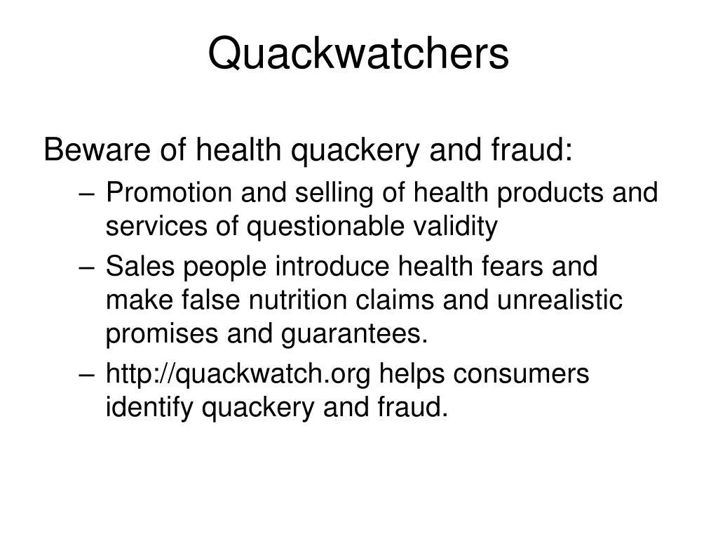 Quackwatchers