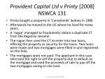 provident capital ltd v printy 2008 nswca 131