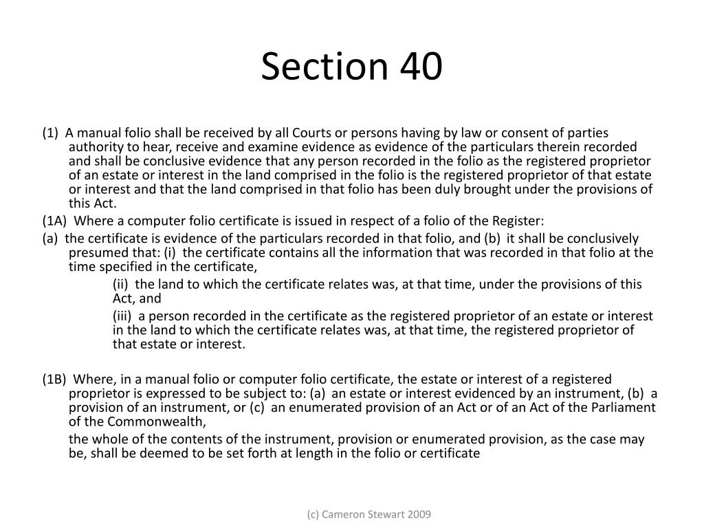Section 40