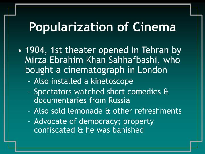 Popularization of cinema