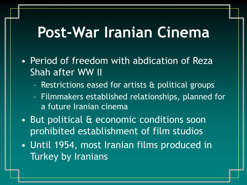 Post-War Iranian Cinema