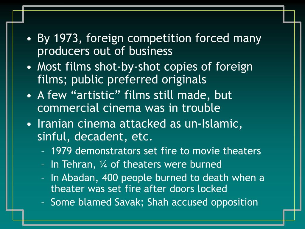 By 1973, foreign competition forced many producers out of business