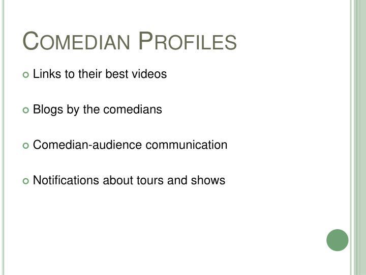 Comedian Profiles