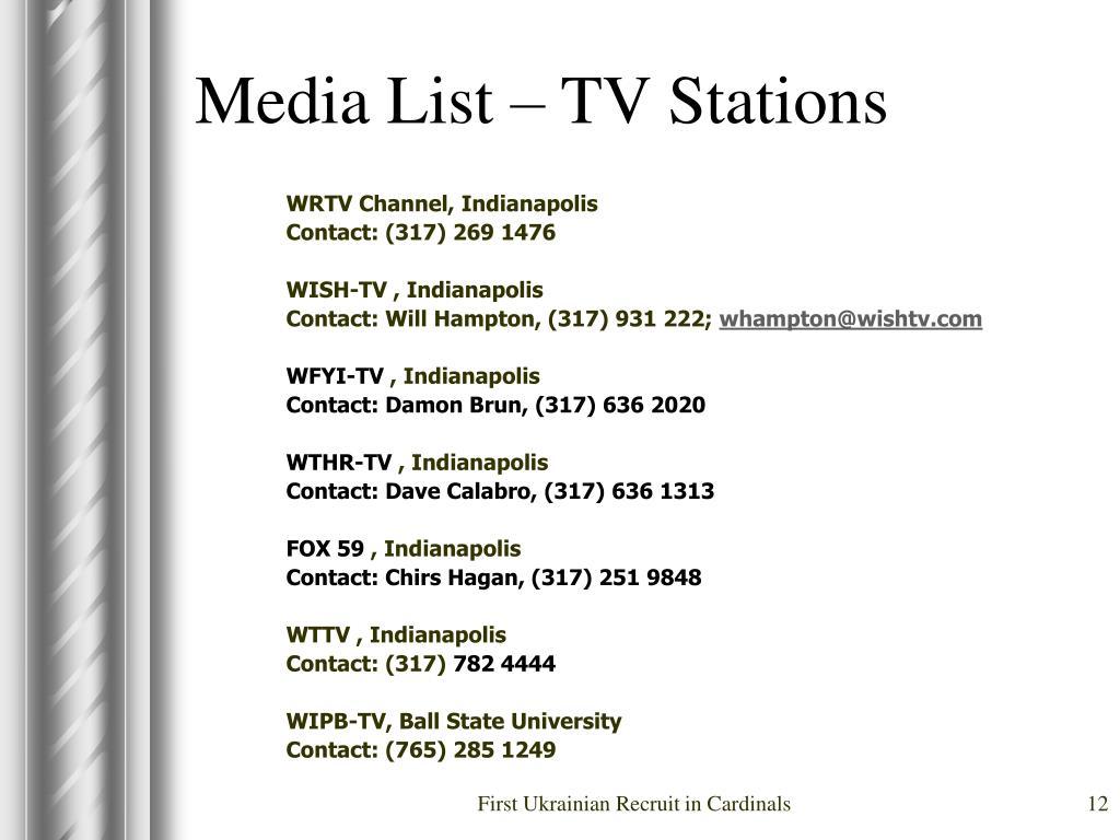 Media List – TV Stations