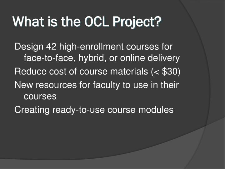 What is the ocl project