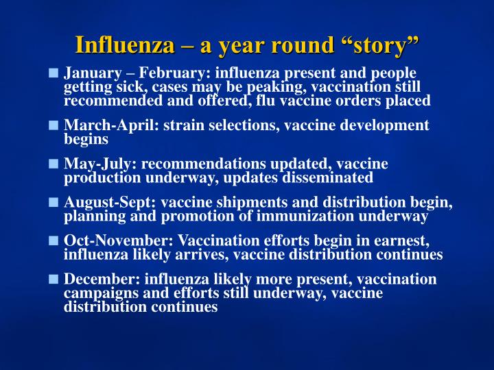 Influenza a year round story