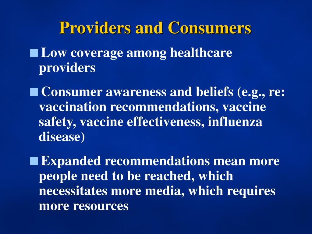 Providers and Consumers