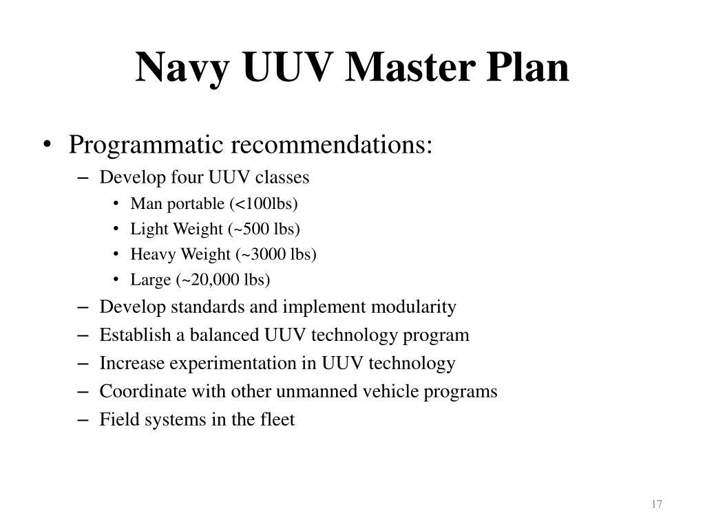 Navy UUV Master Plan