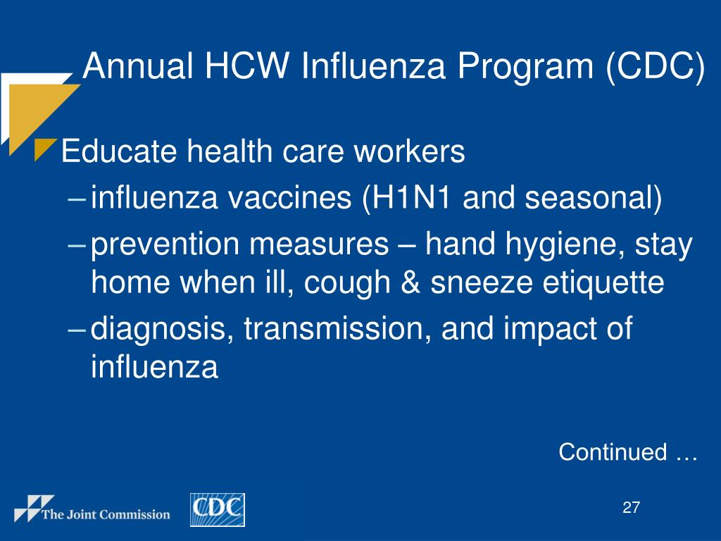 Annual HCW Influenza Program (CDC)