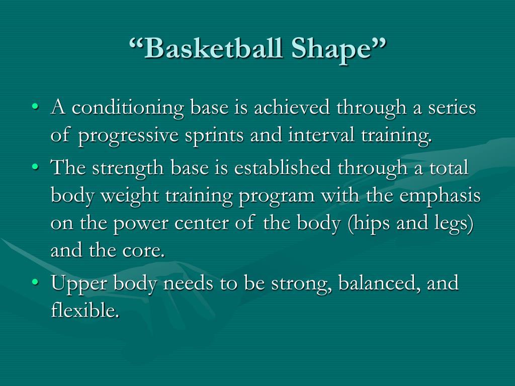 """""""Basketball Shape"""""""