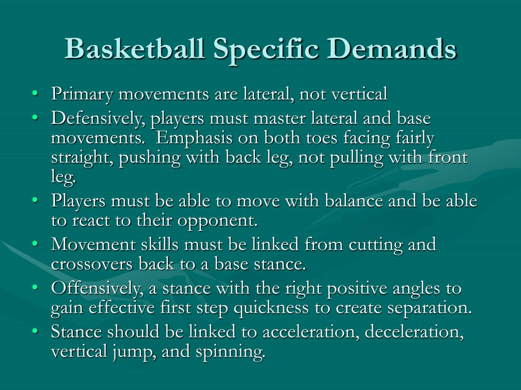 Basketball Specific Demands