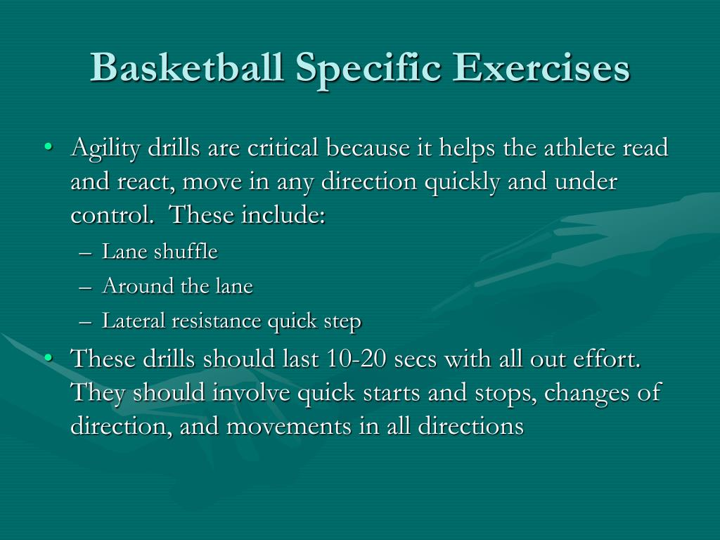 Basketball Specific Exercises
