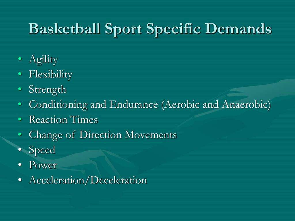 Basketball Sport Specific Demands