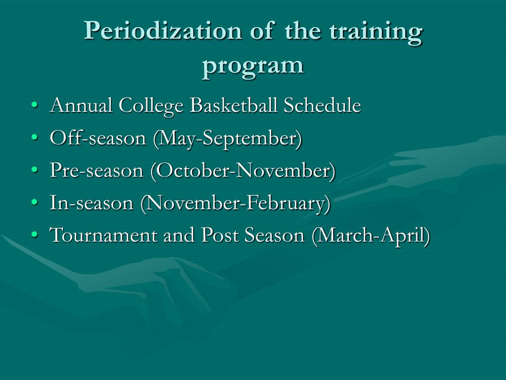 Periodization of the training program