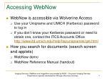 accessing webnow